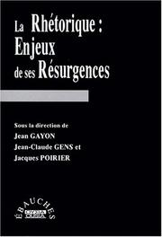 Cover of: La rhétorique