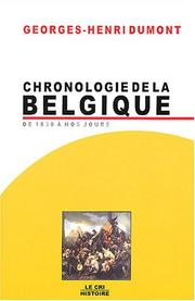 Cover of: Chronologie de la Belgique