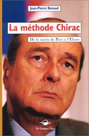 Cover of: La méthode Chirac