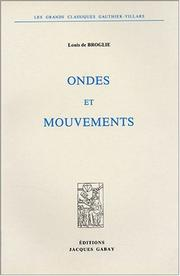 Cover of: Ondes et mouvements