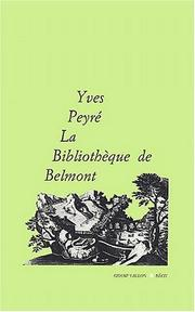 Cover of: La bibliothèque de Belmont