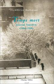 Cover of: Temps mort