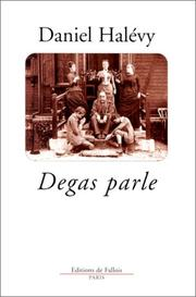 Cover of: Degas parle