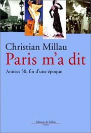 Cover of: Paris m'a dit