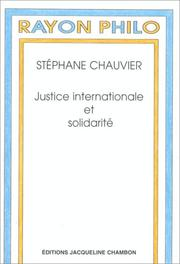Cover of: Justice internationale et solidarité