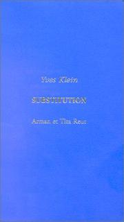 Cover of: Substitution