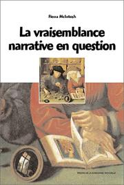 Cover of: La vraisemblance narrative