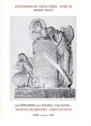 Cover of: Epitaphier du vieux Paris
