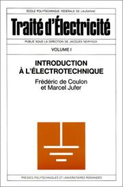 Cover of: Introduction à l'électrotechnique