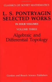 Cover of: Algebraic and Differential Topology (Classics of Soviet Mathematics) | R. V. Gamkrelidze