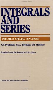 Cover of: Integrals and series | A. P. Prudnikov