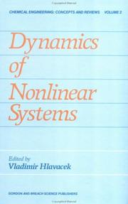 Cover of: Dynamics of nonlinear systems |