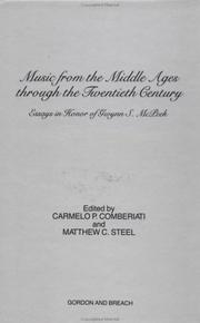 Cover of: Music from the Middle Ages through the twentieth century