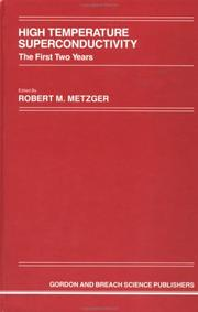 Cover of: High Temperature Superconductivity | R. M. Metzger