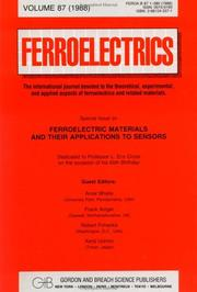 Cover of: Ferroelectric Materials and Their Applications to Sensors | A. Bhalla