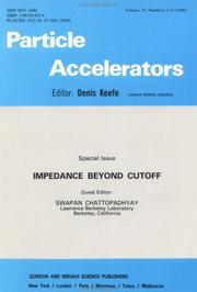 Cover of: Impedance Beyond Cutoff | Chattopadhyay