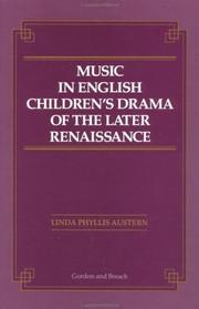 Cover of: Music in English children
