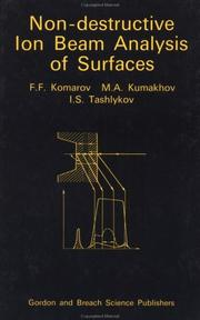 Non-destructive ion beam analysis of surfaces by F. F. Komarov