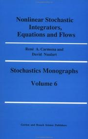 Cover of: Nonlinear stochastic integrators, equations, and flows