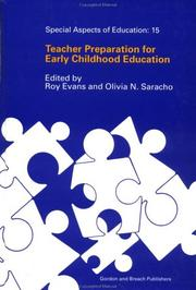 Cover of: Teacher Preparation for Early Childhood Education (Special Aspects of Education)
