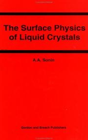 Cover of: The surface physics of liquid crystals