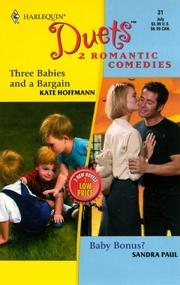 Cover of: Three Babies and a Bargain/Baby Bonus?