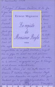 Cover of: Le copiste de monsieur Beyle