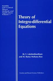 Cover of: Theory of integro-differential equations