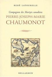 Cover of: Pierre-Joseph-Marie Chaumonot