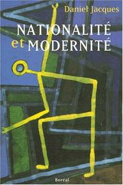 Cover of: Nationalité et modernité