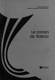 Cover of: Roman de Balzac(le) (3L series)