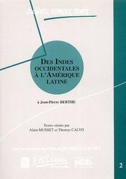 Cover of: Des Indes occidentales à l'Amérique latine