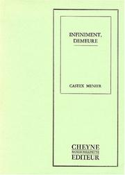 Cover of: Infiniment, demeure
