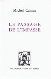 Cover of: Le passage de l'impasse