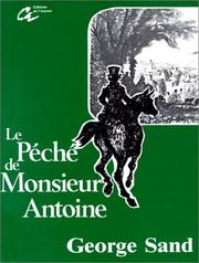Cover of: Le péché de Monsieur Antoine