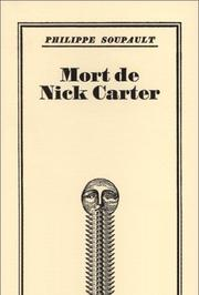 Cover of: Mort de Nick Carter
