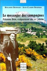 Cover of: Le messager des campagnes