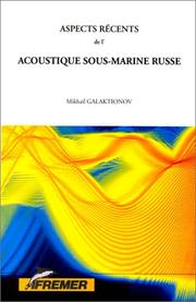 Cover of: Aspects récents de l'acoustique sous-marine russe