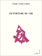 Cover of: Ouverture du cri