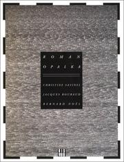 Cover of: Roman Opalka | Christine Savinel