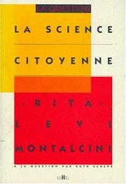 Cover of: La science citoyenne