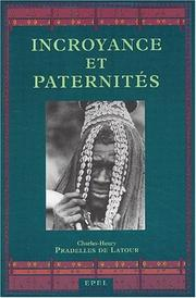 Cover of: Incroyance et paternités