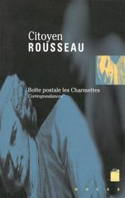 Cover of: Citoyen Rousseau