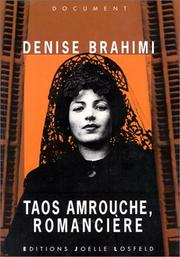 Cover of: Taos Amrouche, romancière