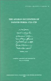 Cover of: The Afghan occupation of Safavid Persia, 1721-1729