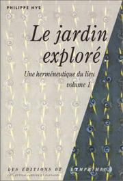 Cover of: Le jardin exploré