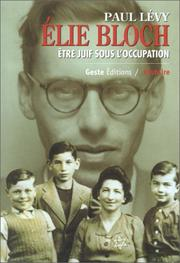 Cover of: Elie Bloch