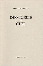 Cover of: Droguerie du ciel