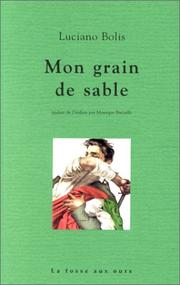 Cover of: Mon grain de sable