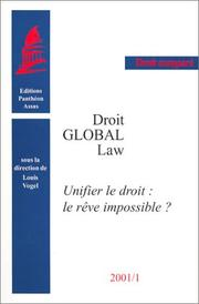 Cover of: Droit global Law